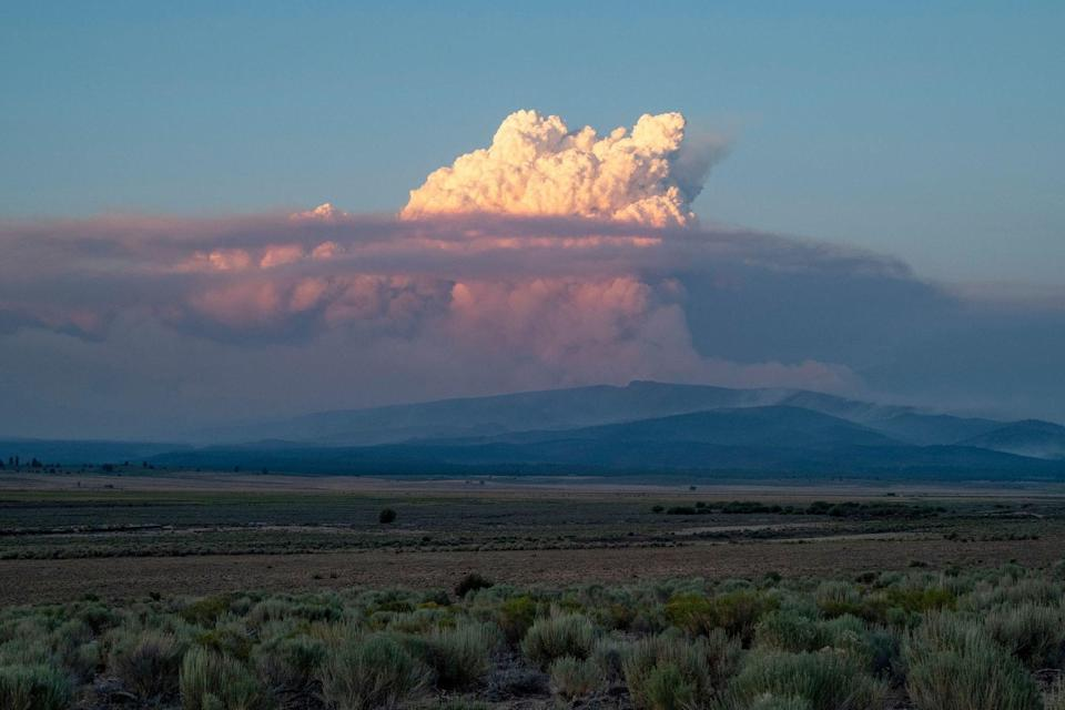 A pyrocumulus cloud drifts into the Oregon air on July 16.