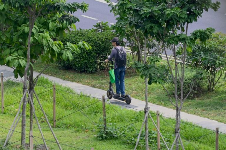 Many Singaporeans approve of the effort to rein in the scooters, which now number about 100,000 in the space-starved country of 5.7 million (AFP Photo/Roslan RAHMAN)