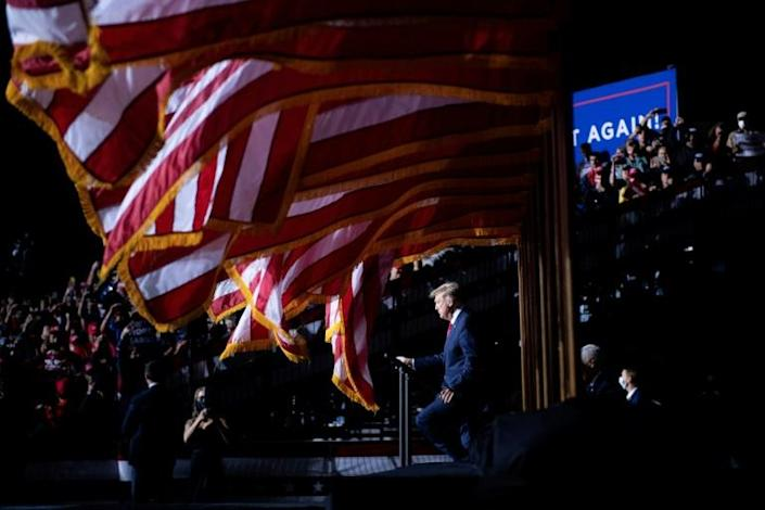 US President Donald Trump is making his rightward tilt of the Supreme Court a big campaign issue at rallies