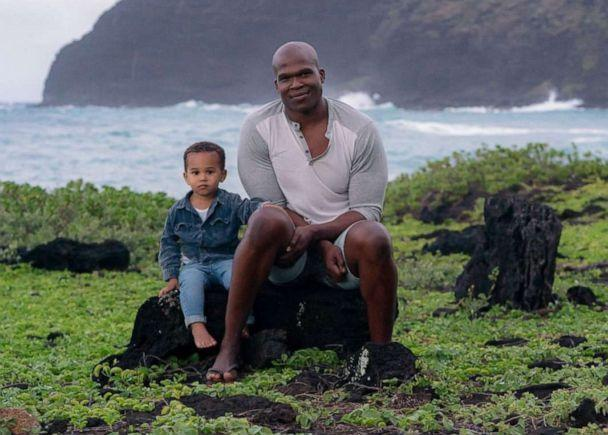 PHOTO: Lindani Myeni is pictured in Hawaii with his two-year-old son in an undated handout photo. (Philbroux Richardson)