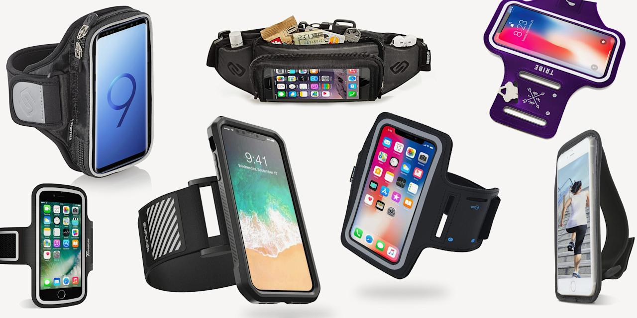 """<p>If you run with a phone during your training, you know the struggle. Holding your gadget with sweaty palms from a <a href=""""https://www.runnersworld.com/advanced/a20807880/summer-running-how-to-stand-the-heat/"""" target=""""_blank"""">hot run</a> can cause a lot of problems, like beads of sweat building up on the screen, making the touchscreen unusable. Or your headphone wires get tangled and pull out of your ear just as you get in the groove. Plus, there's a major risk for dropping your phone if you hit any uneven terrain. (And really, how much extra energy is it taking to securely grip your portable lifeline?)<br><br>Thankfully, the armband has been around ever since runners needed to log miles with the help of their phones. By bringing your smartphone along, you'll be able to listen to <a href=""""https://www.runnersworld.com/runners-stories/a20865567/best-running-songs/"""" target=""""_blank"""">music</a>, <a href=""""https://www.runnersworld.com/gear/g22761456/best-podcasts-for-working-out/"""" target=""""_blank"""">podcasts</a>, and have the ability to snap an <a href=""""https://www.runnersworld.com/runners-stories/a28400078/how-to-take-action-shots/"""" target=""""_blank"""">Instagram-worthy shot</a> when the moment strikes. If you're looking for a way to run with your phone <a href=""""https://www.runnersworld.com/beginner/a22528023/6-hacks-for-carrying-essentials-on-the-run/"""" target=""""_blank"""">hands-free</a>, and still want easy access to all of your <a href=""""https://www.runnersworld.com/gear/a20865699/best-running-apps/"""" target=""""_blank"""">favorite apps</a>, a running armband is ideal. </p><p>Whether you just want to have your phone in tow or need to pack a <a href=""""https://www.runnersworld.com/nutrition-weight-loss/g20819713/25-great-snacks-for-runners-0/"""" target=""""_blank"""">snack</a> for a long run, one of these bands—<a href=""""https://www.runnersworld.com/gear/g23286352/amazon-running-products/"""" target=""""_blank"""">all of which are highly rated on Amazon</a>—will be the right fit for you.</p>"""