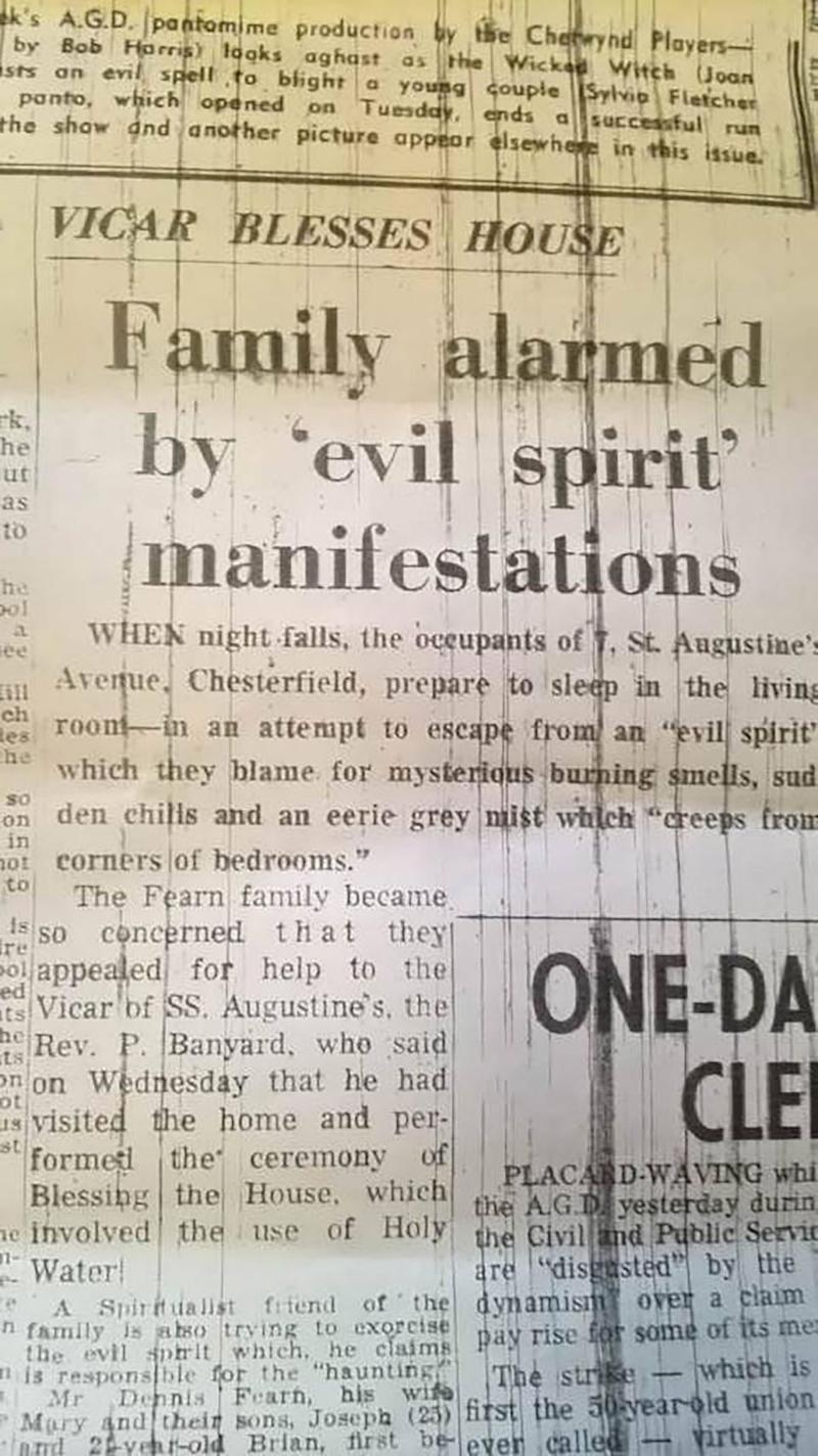 The home was previously the site of an exorcism. Source: Caters
