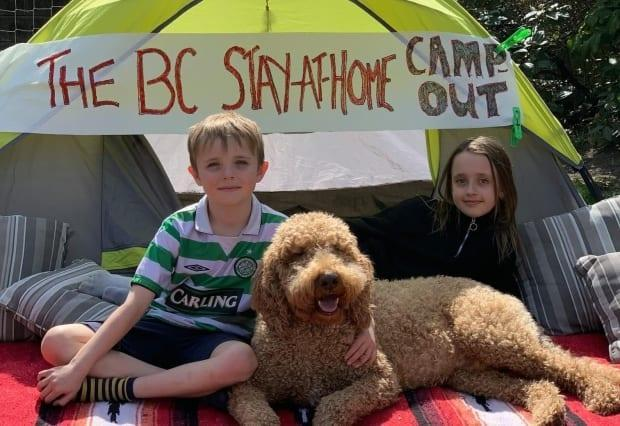 Kelly Terry said the idea for the BC Stay-at-Home Campout initiative was from a family in England, but she decided to reach out to the BCCDC Foundation for Public Health when she saw how much her children, 9 and 11, were enjoying it. (BC Stay-at-Home Campout/Facebook - image credit)
