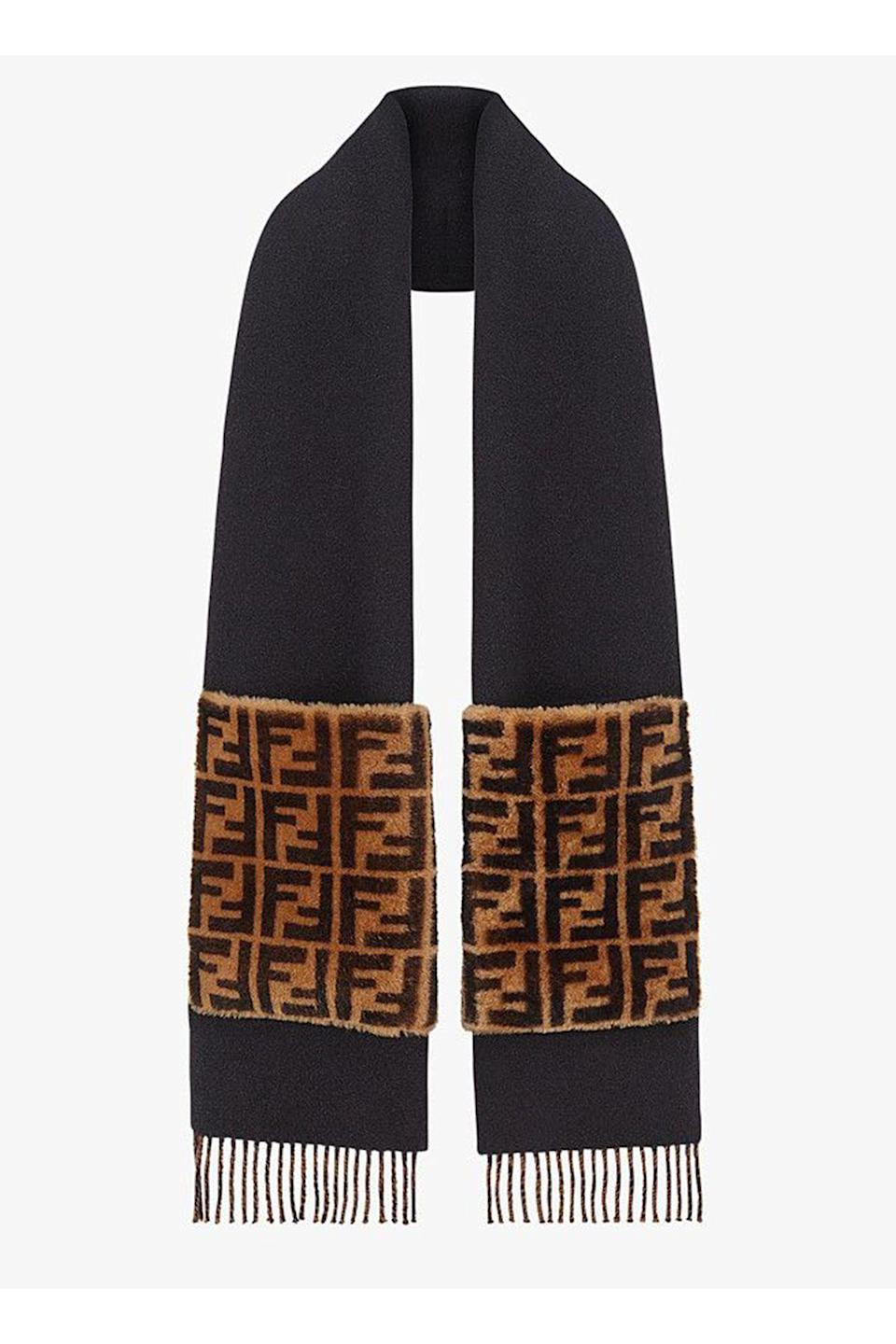 """<p><strong>Fendi</strong></p><p>fendi.com</p><p><strong>$2100.00</strong></p><p><a href=""""https://www.fendi.com/us/textile-accessories-woman/touch-of-fur-scarf-fxt252a2ohf0qa1?from=search&queryId=24136ae706410b2894b7bf9f39255917"""" rel=""""nofollow noopener"""" target=""""_blank"""" data-ylk=""""slk:Shop Now"""" class=""""link rapid-noclick-resp"""">Shop Now</a></p><p>Leave it to the creator of the world's first It bag to conjure up an ultra-luxurious, fur-lined scarf that will be at the top of every discernible shopper's fall wish list. </p>"""
