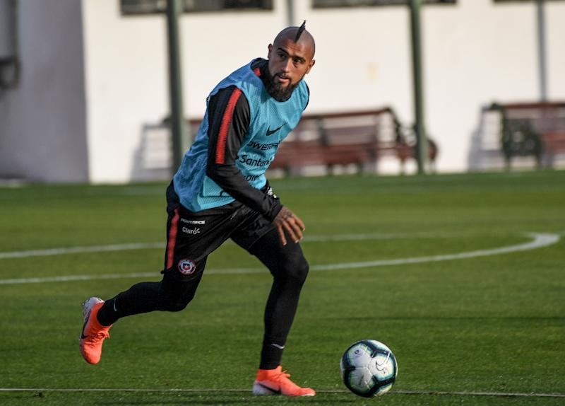 'This squad should be feared,' said Chile's Arturo Vidal ahead of their Copa America opener against Japan (AFP Photo/MARTIN BERNETTI)