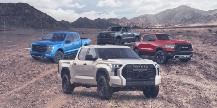 Photo credit: Chevrolet, Ford, Ram, Toyota - Car and Driver