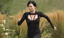 """<p>Charlize may think twice about playing an action star after hurting her neck during the making of this flop in 2004. She <a href=""""http://www.dailymail.co.uk/tvshowbiz/article-4411182/Charlize-Theron-reveals-2005-stunt-paralysed-her.html"""" rel=""""nofollow noopener"""" target=""""_blank"""" data-ylk=""""slk:suffered a slipped disc"""" class=""""link rapid-noclick-resp"""">suffered a slipped disc</a> in her neck while performing a stunt, shutting the production down for six weeks. </p>"""