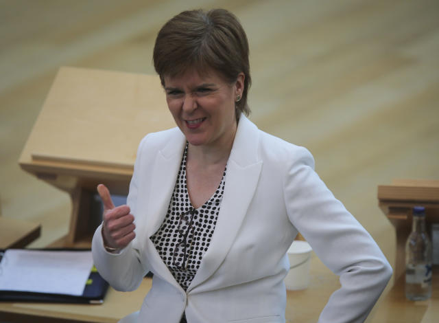 Nicola Sturgeon has announced that Scotland will reopen beer gardens on 6 July. (Getty)