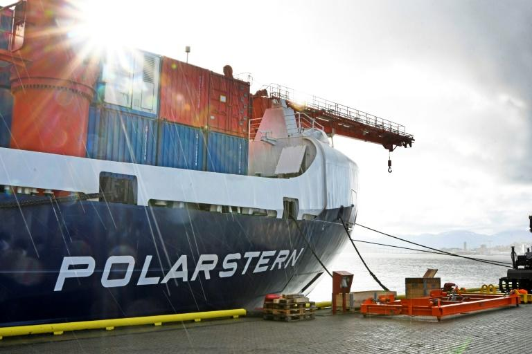 Researchers will make the expedition on the massive research vessel Polarstern (AFP Photo/Rune Stoltz Bertinussen)