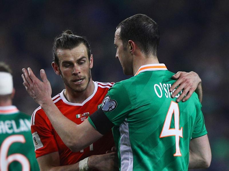 Gareth Bale and John O'Shea clashed during the game (Getty)
