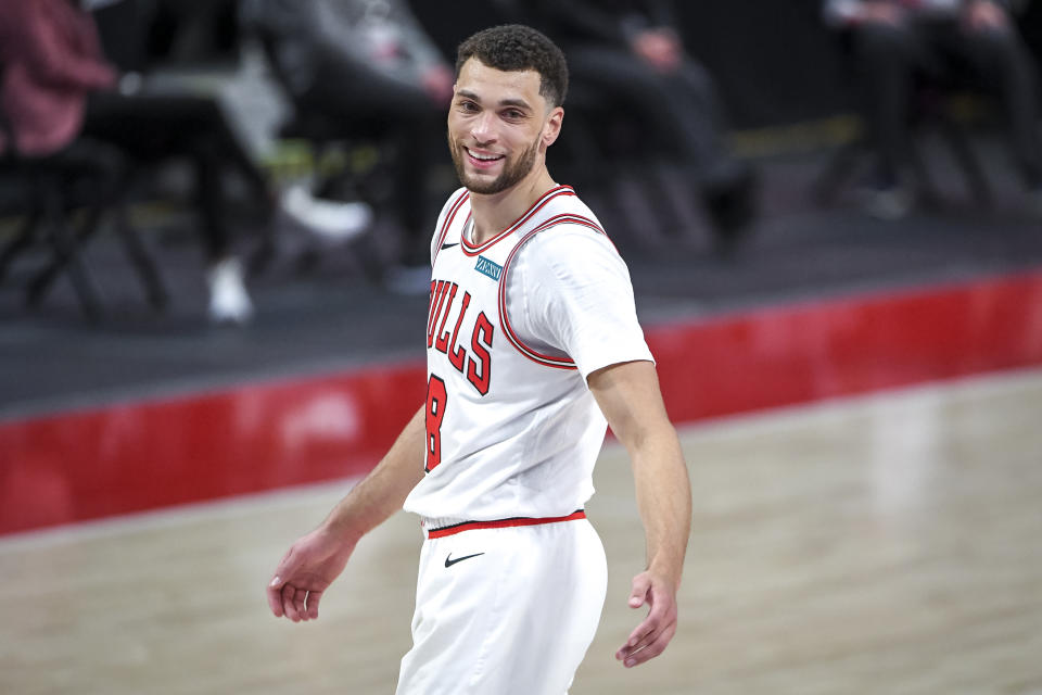 Zach LaVine is joing the MTN DEW roster of NBA and WNBA athletes. (Nic Antaya/Getty Images)