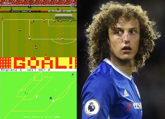 David Luiz eyes the video games that made him the footballer he is today.