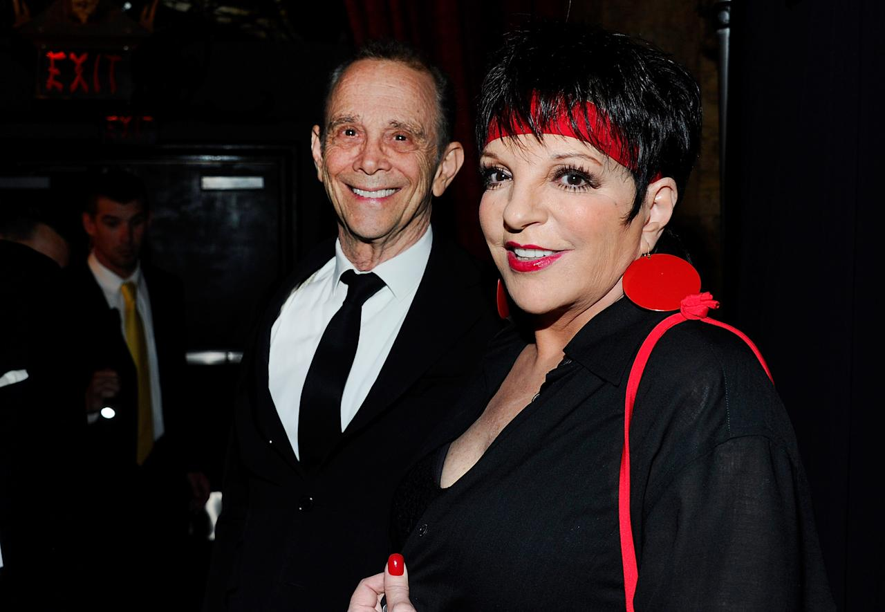 "HOLLYWOOD, CA - APRIL 12:  Actors Joel Grey (L) and Liza Minnelli attends the TCM Classic Film Festival opening night premiere of the 40th anniversary restoration of ""Cabaret"" at Grauman's Chinese Theatre on April 12, 2012 in Hollywood, California.  (Photo by Alberto E. Rodriguez/Getty Images)"