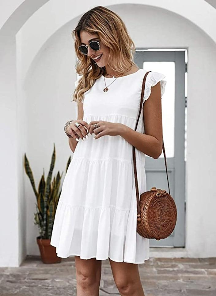 <p>Wear this <span>Kirundo Pleated Dress</span> ($13-$29) with a cute straw hat at the beach.</p>