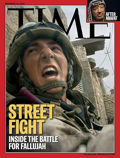 The Nov. 22, 2004 cover of TIME featured the battle for Fallujah in Iraq. | Photograph for TIME by Max Becherer--Polaris