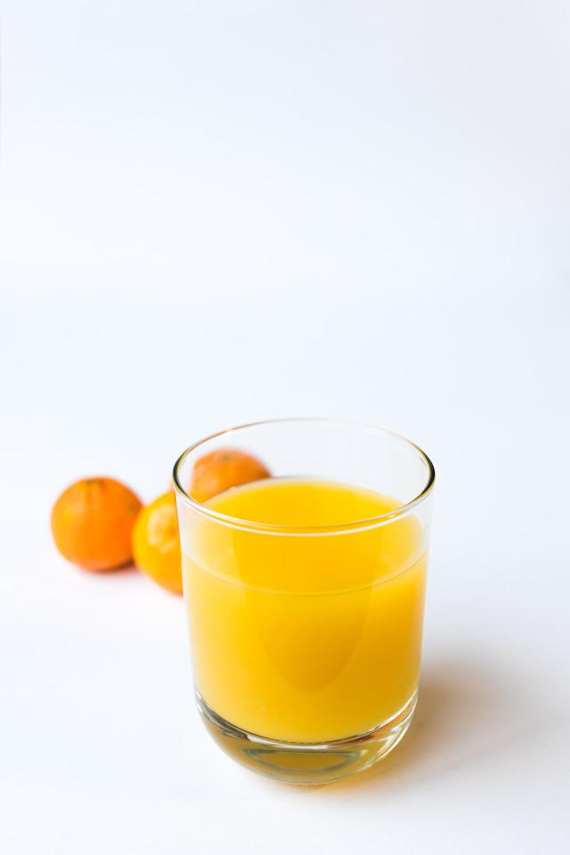 """<p>Oranges are at their freshest beginning in the late fall, and orange juice is many people's go-to when they feel a cold coming on, for good reason. One-hundred percent orange juice contains vitamin C, <a href=""""http://lpi.oregonstate.edu/mic/vitamins/vitamin-C"""" target=""""_blank"""" class=""""ga-track"""" data-ga-category=""""Related"""" data-ga-label=""""http://lpi.oregonstate.edu/mic/vitamins/vitamin-C"""" data-ga-action=""""In-Line Links"""">a nutrient that strengthens our immune systems</a> by protecting cells and promoting the production and function of immune cells. One eight-ounce glass of OJ provides <a href=""""https://ods.od.nih.gov/factsheets/VitaminC-HealthProfessional/"""" target=""""_blank"""" class=""""ga-track"""" data-ga-category=""""Related"""" data-ga-label=""""https://ods.od.nih.gov/factsheets/VitaminC-HealthProfessional/"""" data-ga-action=""""In-Line Links"""">more than 100 percent of your recommended daily value of vitamin C</a>, and there are also many carotenoids found in pure orange juice - including beta carotene, alpha carotene, and beta cryptoxanthin - which can help form vitamin A in the body, <a href=""""https://www.ncbi.nlm.nih.gov/books/NBK225469/"""" target=""""_blank"""" class=""""ga-track"""" data-ga-category=""""Related"""" data-ga-label=""""https://www.ncbi.nlm.nih.gov/books/NBK225469/"""" data-ga-action=""""In-Line Links"""">an important nutrient for immune function</a>.</p>"""