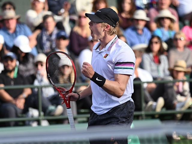 Denis Shapovalov has three victories and original rap at Indian Wells. (Photo by Cynthia Lum/Icon Sportswire via Getty Images)