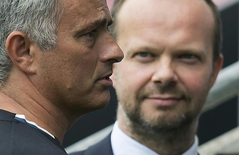 Not seeing eye-to-eye: Manchester United executive vice-chairman Ed Woodward didn't sign the centre-back Jose Mourinho wanted in the transfer window