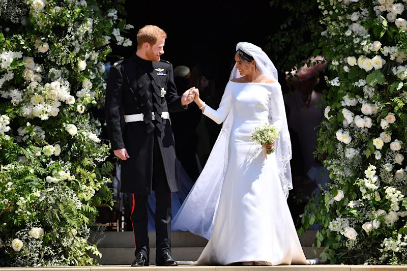 The Duke and Duchess of Sussex on their wedding day.  (PA Wire/PA Images)