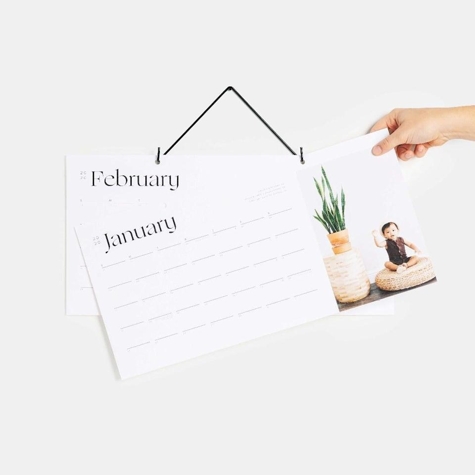 """<h3><a href=""""https://www.artifactuprising.com/photo-calendars/modern-wall-calendar"""" rel=""""nofollow noopener"""" target=""""_blank"""" data-ylk=""""slk:Artifact Uprising Modern Wall Calendar"""" class=""""link rapid-noclick-resp"""">Artifact Uprising Modern Wall Calendar</a></h3><br>While this may look like an aforementioned """"lackluster calendar book,"""" it's actually much more — Artifact Uprising gives the classic wall calendar an artful twist with a reimagined modern design that uses perforated edges for snapshots that can be repurposed and used once the dates expire. <br><br><strong>Artifact Uprising</strong> Modern Wall Calendar, $, available at <a href=""""https://www.artifactuprising.com/photo-calendars/modern-wall-calendar"""" rel=""""nofollow noopener"""" target=""""_blank"""" data-ylk=""""slk:Artifact Uprising"""" class=""""link rapid-noclick-resp"""">Artifact Uprising</a>"""