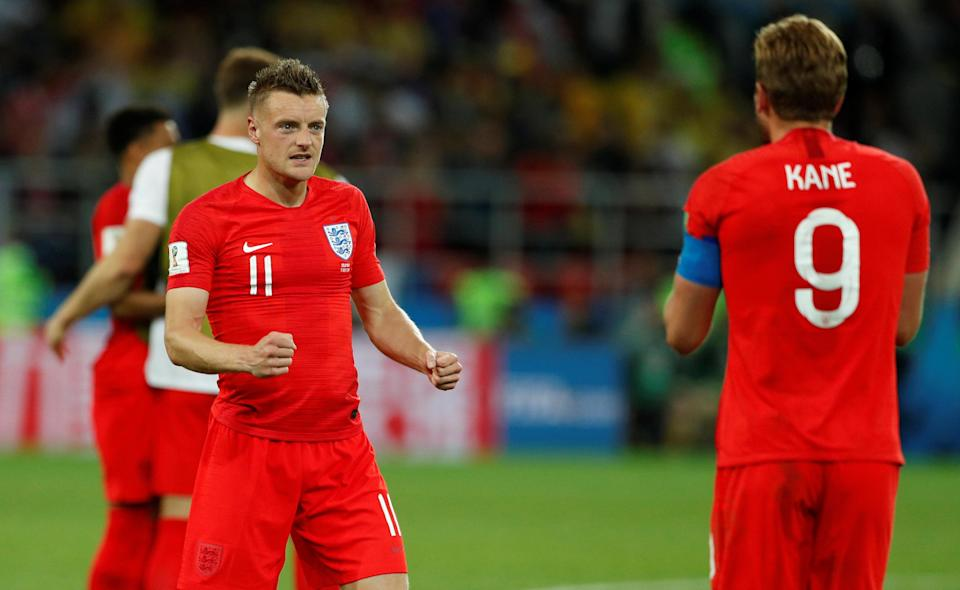 <p>That's Jamie Vardy enjoying a win about 10 years ago. </p>