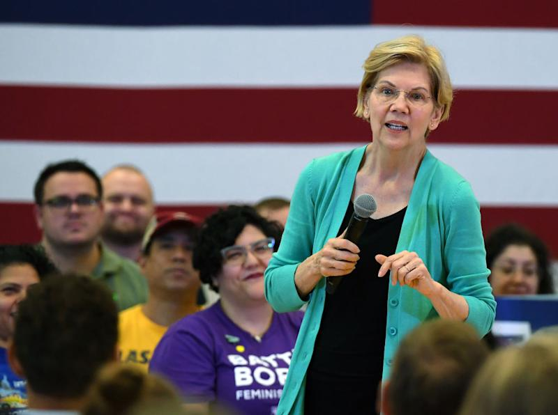 Democratic presidential candidate U.S. Sen. Elizabeth Warren (D-MA) speaks during a community conversation at the East Las Vegas Community Center on July 2, 2019 in Las Vegas, Nevada. Polls taken after last week's first Democratic presidential debates show Warren gaining ground with voters. | Ethan Miller—Getty Images