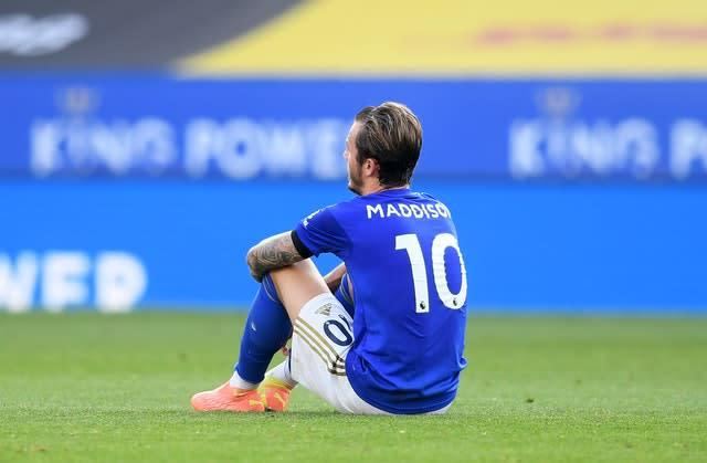 James Maddison is an injury doubt for Leicester ahead of their trip to Everton on Wednesday.