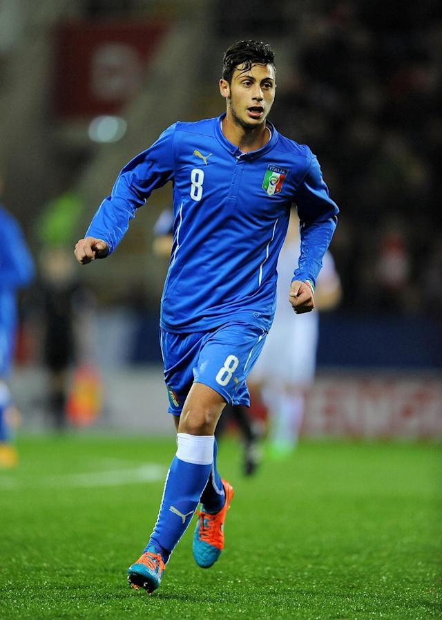 <p>The Italy midfielder played 26 games on loan for Pescara last season from Genoa aged just 18. Now 19 and at Juventus, he has played once but is expected to have a much bigger role next season. </p>