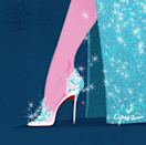 Shoes fit for a queen. Elsa in my favorite shoe designer, Christian Louboutin.
