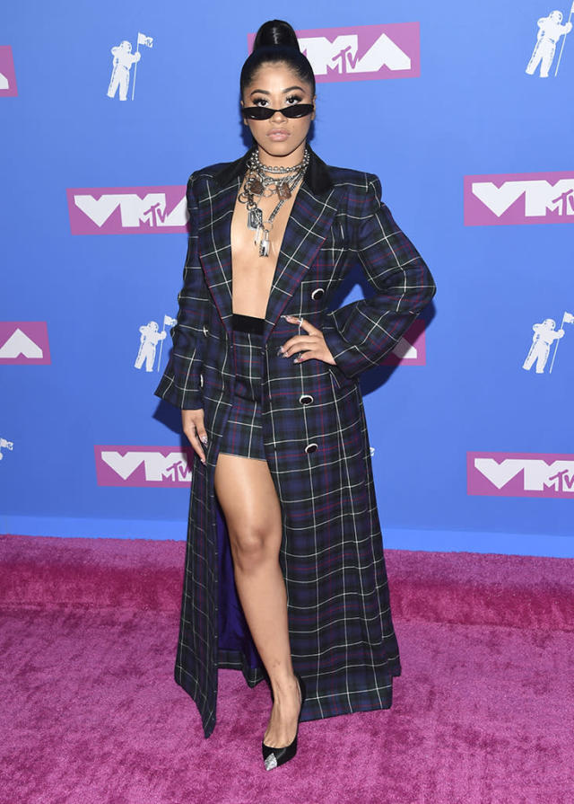 <p>Hennessy Carolina arrives at the MTV Video Music Awards at Radio City Music Hall on Monday, Aug. 20, 2018, in New York. (Photo: Evan Agostini/Invision/AP) </p>