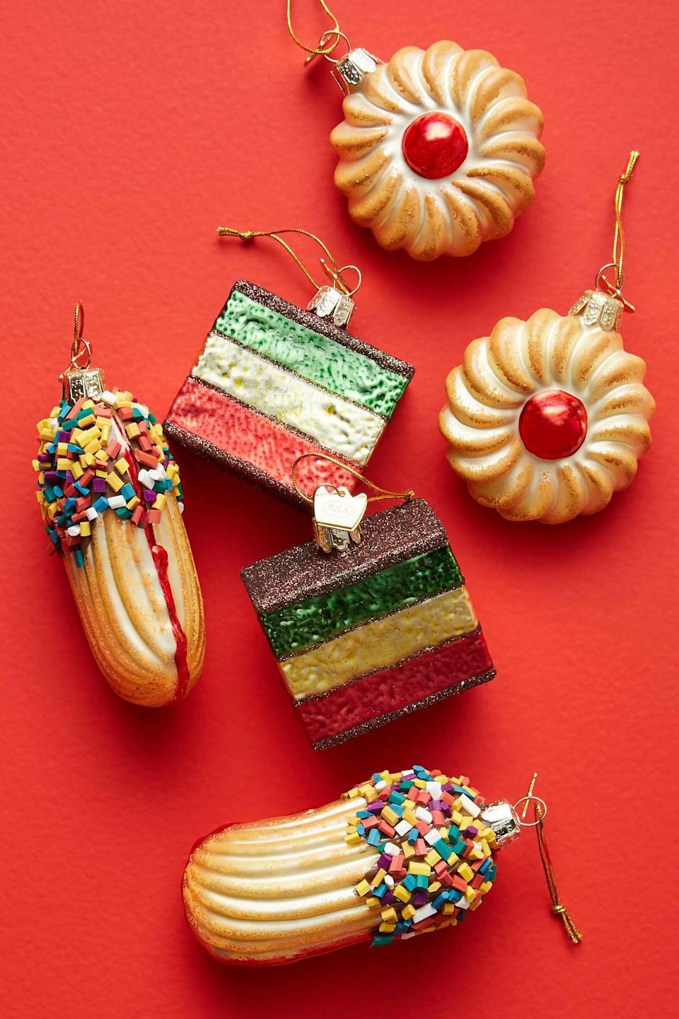 """<p>Add a sweet touch to your holiday decor with the <a href=""""https://www.popsugar.com/buy/Italian-Cookie-Ornaments-Set-Six-490549?p_name=Italian%20Cookie%20Ornaments%2C%20Set%20of%20Six&retailer=anthropologie.com&pid=490549&price=58&evar1=casa%3Aus&evar9=46615300&evar98=https%3A%2F%2Fwww.popsugar.com%2Fhome%2Fphoto-gallery%2F46615300%2Fimage%2F46615420%2FItalian-Cookie-Ornaments-Set-Six&list1=shopping%2Canthropologie%2Choliday%2Cchristmas%2Cchristmas%20decorations%2Choliday%20decor%2Chome%20shopping&prop13=mobile&pdata=1"""" rel=""""nofollow noopener"""" class=""""link rapid-noclick-resp"""" target=""""_blank"""" data-ylk=""""slk:Italian Cookie Ornaments, Set of Six"""">Italian Cookie Ornaments, Set of Six</a> ($58).</p>"""