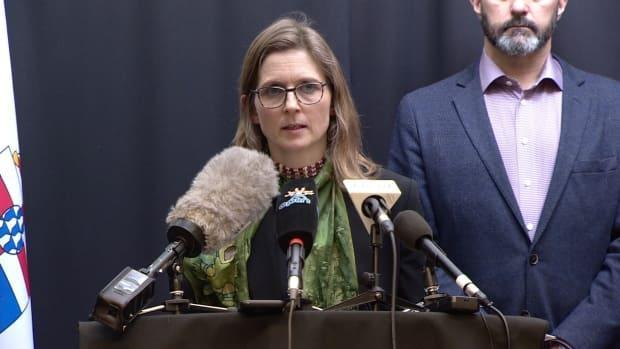 'The outbreak is linked to youth and adults who are not yet vaccinated,' said Dr. Catherine Elliott, Yukon's acting chief medical officer of health, seen here in March 2020. (Steve Silva/CBC - image credit)