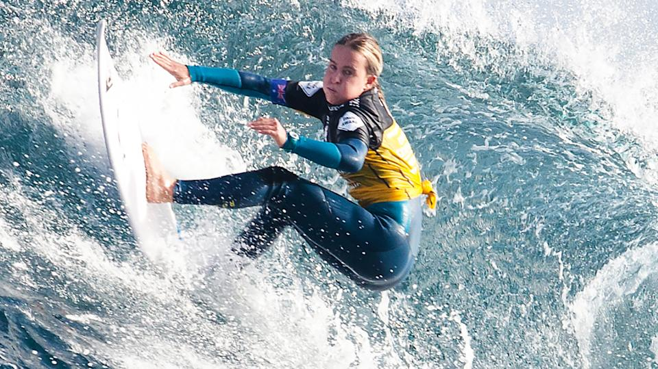 Laura Macauley is pictured during the 2014 Margaret River Pro.