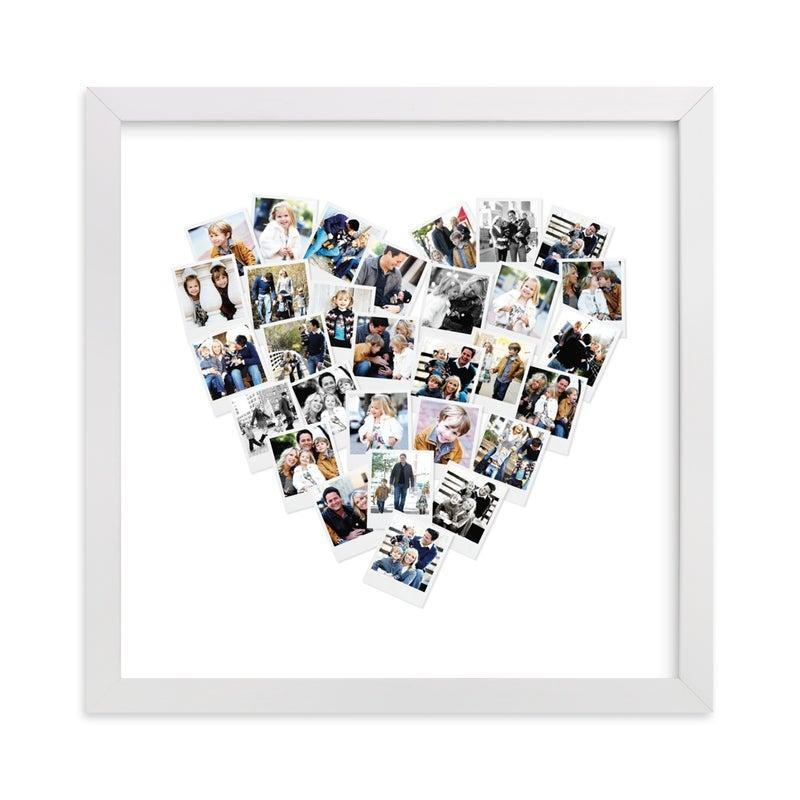 """<h3><a href=""""https://fave.co/3m9C4bQ"""" rel=""""nofollow noopener"""" target=""""_blank"""" data-ylk=""""slk:Minted Heart Mix Photo Collage With Frame"""" class=""""link rapid-noclick-resp"""">Minted Heart Mix Photo Collage With Frame</a></h3><br>Assemble all your favorite family photos with an art print designed to warm anyone's heart.<br><br><strong>Minted</strong> Heart Snapshot Mix Photo Art, $, available at <a href=""""https://go.skimresources.com/?id=30283X879131&url=https%3A%2F%2Fwww.minted.com%2Fproduct%2Fphoto-art%2FMIN-ZRO-GCP%2Fheart-snapshot-mix-photo-art%3F"""" rel=""""nofollow noopener"""" target=""""_blank"""" data-ylk=""""slk:Minted"""" class=""""link rapid-noclick-resp"""">Minted</a>"""