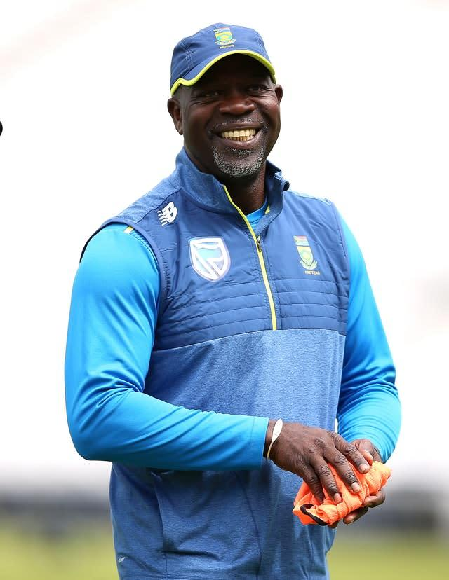 Ottis Gibson was 'hired to win the World Cup' according to CSA chief executive Thabang Moroe (Nigel French/PA)