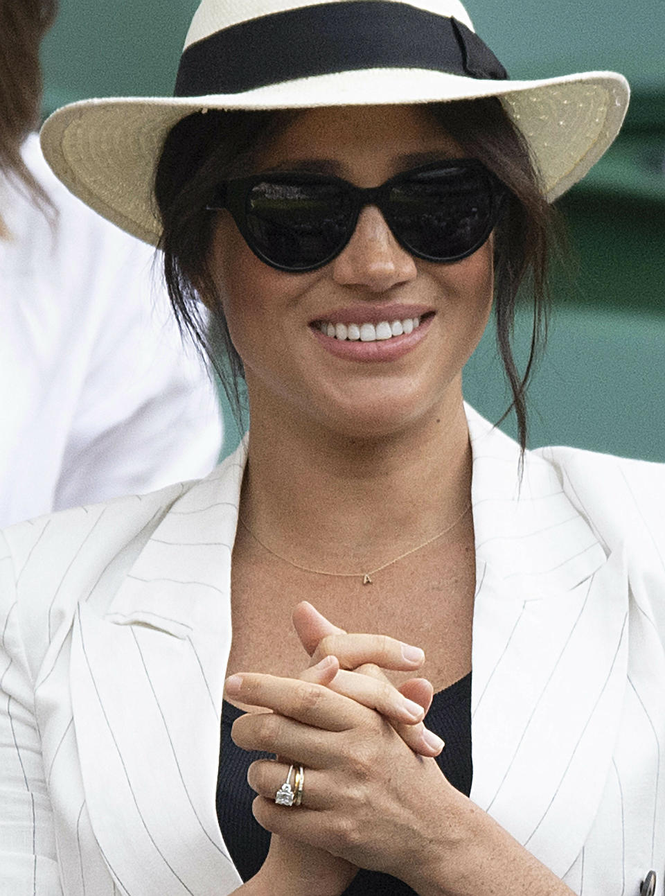 Photo by: KGC-173/STAR MAX/IPx 2019 7/4/19 Meghan, The Duchess of Sussex at the 2019 Wimbledon Tennis Championships where she made a surprise appearance. (Wimbledon, UK)