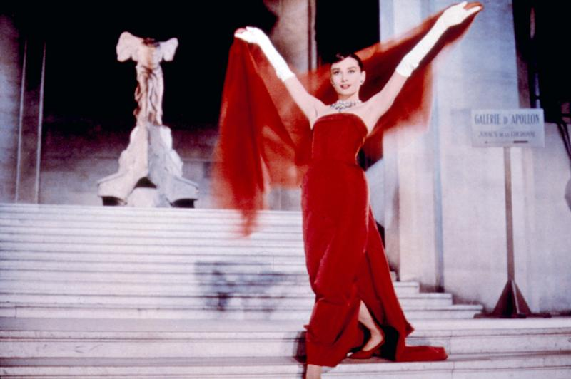 Audrey Hepburn wears Givenchy in Funny Face (1957).
