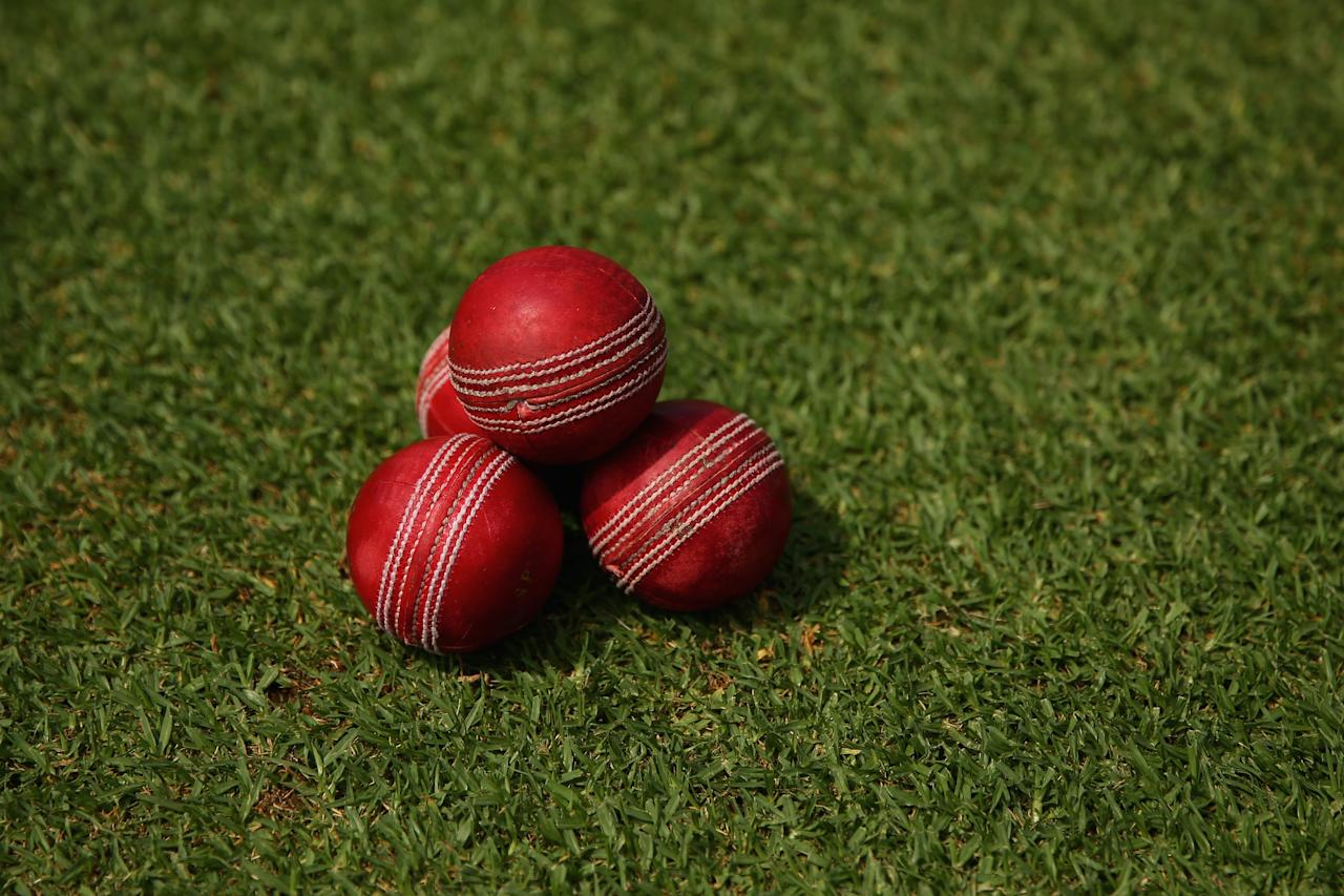 ALICE SPRINGS, AUSTRALIA - NOVEMBER 29: A general view of a pile of cricket balls is seen during day one of the tour match between the Chairman's XI and England at {VENUE] on November 29, 2013 in Alice Springs, Australia.  (Photo by Mark Kolbe/Getty Images)