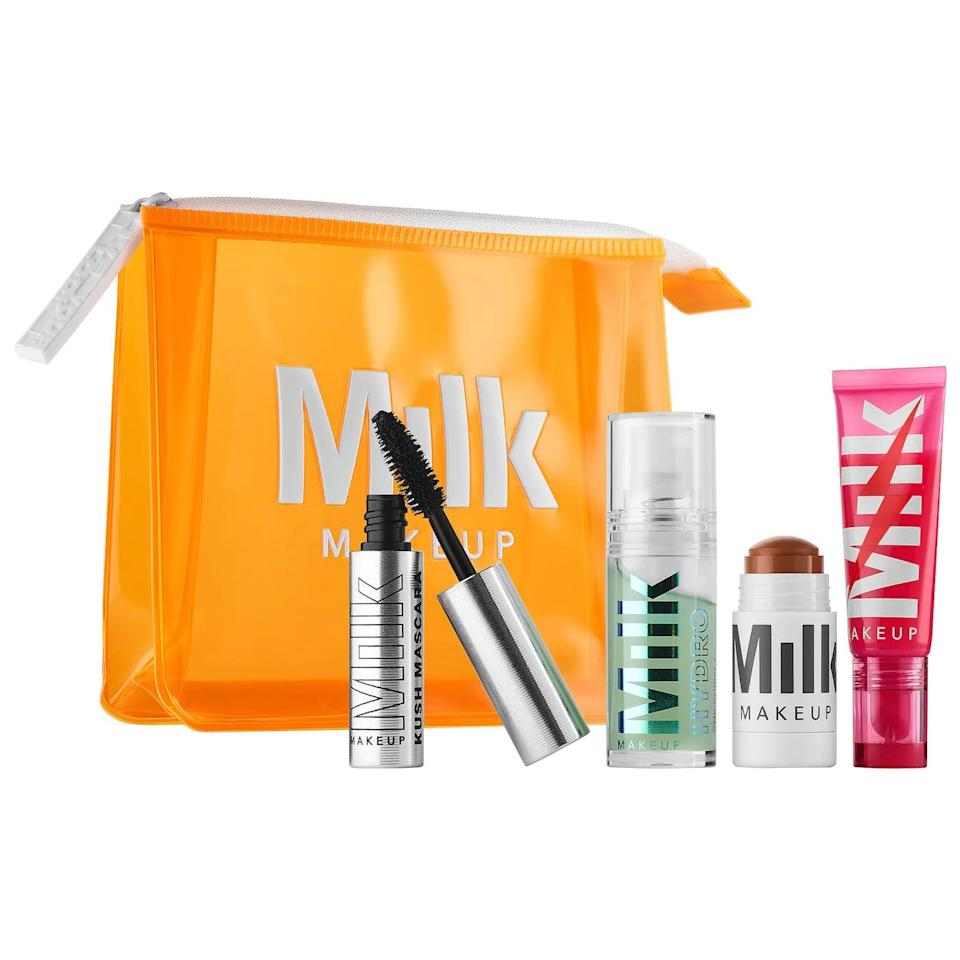 <p>MILK's <span>Glossy Glow Full Face Set</span> ($35) is great for those who love simple makeup. </p>