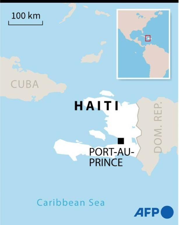 Map of Haiti marking the capital Port-au-Prince