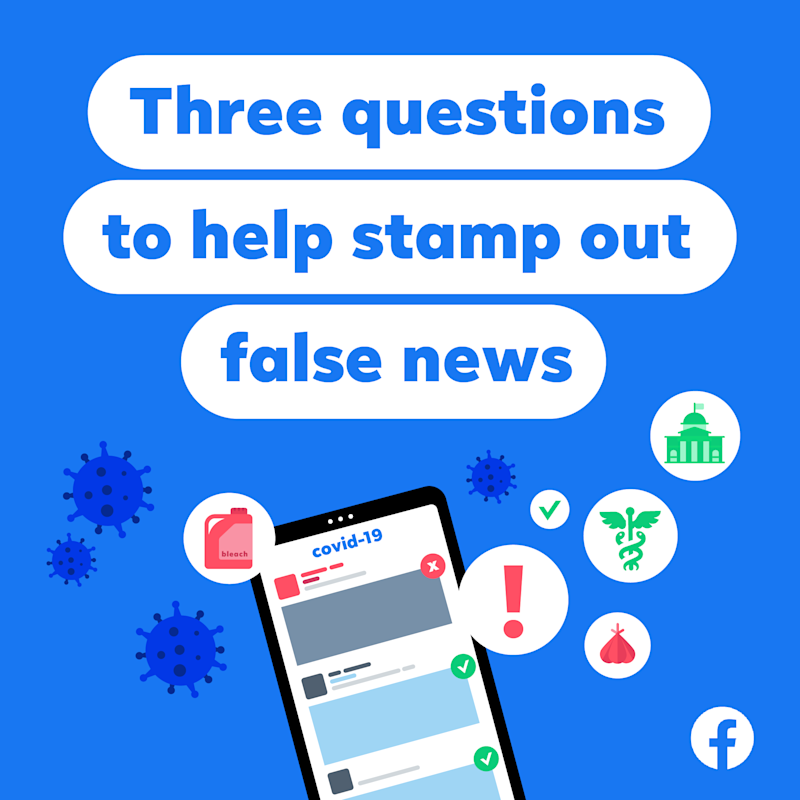 One of the campaign ads used by Facebook to make users more aware of fake news