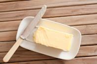"""<p>If you're looking for a simple ingredient you probably already have in your kitchen, melted butter is an effective substitute for vegetable oil — especially for any baking recipes such as <a href=""""https://www.goodhousekeeping.com/food-recipes/dessert/g757/cake-recipes/"""" rel=""""nofollow noopener"""" target=""""_blank"""" data-ylk=""""slk:cakes"""" class=""""link rapid-noclick-resp"""">cakes</a>, muffins, or cookies. It's great for not only adding moisture to your recipe, but for extra flavor and richness as well.</p>"""