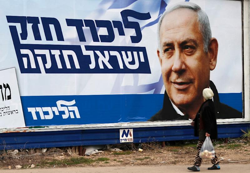 """Turkish Foreign Minister Mevlut Cavusoglu said Netanyahu's """"irresponsible statement to seek votes just before the Israeli general elections"""" would not change the illegality of Israeli occupation of the West Bank (AFP Photo/AHMAD GHARABLI)"""