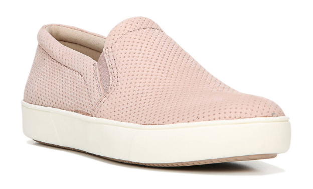 These pretty-in-pink slip-ons feature perforated suede. (Photo: DSW)