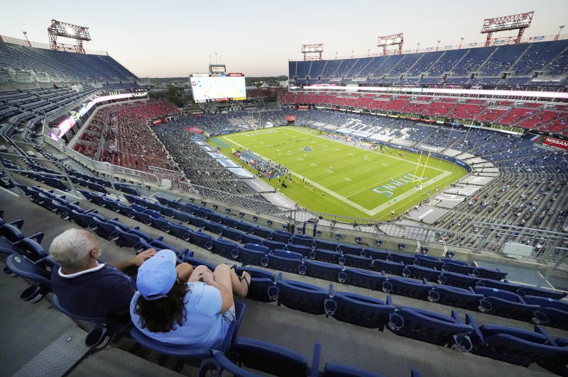 Partially full stadiums are just one unusual part of the 2020 NFL season. (AP Photo/Mark Humphrey)