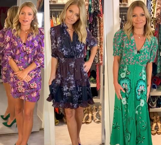 The freshest way to rock fall florals, according to Kelly Ripa. (Photo: Instagram/LiveKellyandRyan)