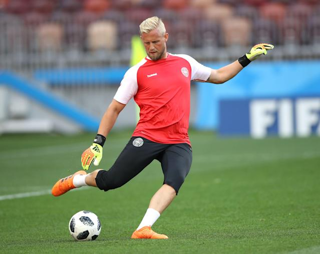 Soccer Football - World Cup - Denmark Training - Luzhniki Stadium, Moscow, Russia - June 25, 2018 Denmark's Kasper Schmeichel during training REUTERS/Carl Recine