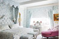 "<p>This blue bedroom in <a href=""https://www.veranda.com/decorating-ideas/house-tours/a34244505/chiqui-woolworth-nyc-apartment-tour/"" rel=""nofollow noopener"" target=""_blank"" data-ylk=""slk:a colorful Manhattan apartment designed by Chiqui Woolworth"" class=""link rapid-noclick-resp"">a colorful Manhattan apartment designed by Chiqui Woolworth</a> gets plenty of natural light in the day time, but heavy-duty window treatments and an abundance of small lamps and sconces ensures a soft, idyllic glow can be created each and every night in this space. </p>"