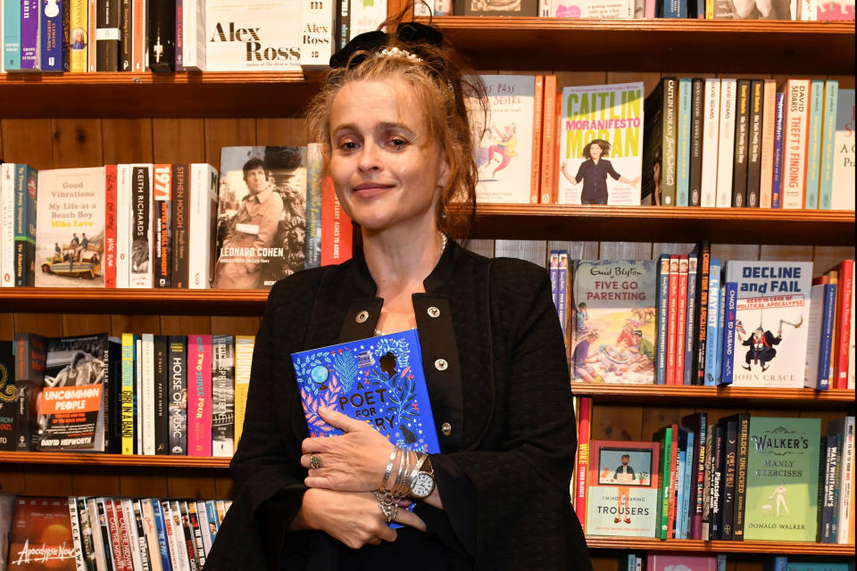 """Helena Bonham Carter attends the launch of new poetry anthology """"A Poet For Every Day Of The Year"""" by Allie Esiri (Dave Benett)"""