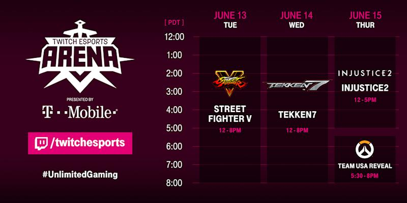Twitch's E3 Esports Arena schedule has been confirmed. (Twitch)